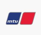 Das Logo der Firma MTU