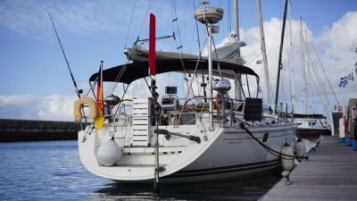 Yacht in der Marina