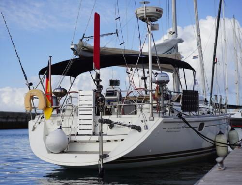 Mai 2018:  Yachtüberführung Jeanneau 49i  Fehmarn – Amsterdam –  London – Lissabon